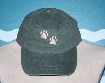 Custom Baseball Cap - Dog Paws embroidered baseball cap - Great custom gift - baseball hat embroidered - Gift under 20 Dollars