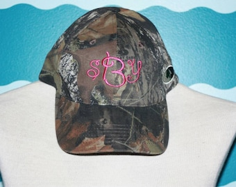 Monogrammed Baseball Hat - Womens Camo Hat - Bridesmaid Hats - Bridesmaid Gift -Embroidered Monogram Gift for Her - Personalized Camo Hat