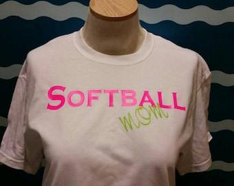 Softball Mom T-shirt - softball mom graphic tee - mom of a softball player t-shirt - support your softball player with a softball mom shirt
