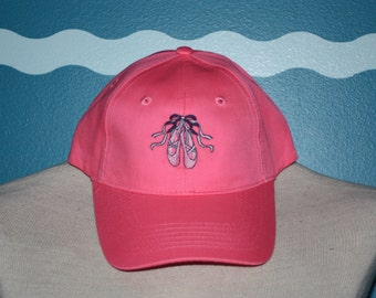 youth baseball cap - embroidered girls baseball cap - Tap shoes embroidered baseball hat - Ballerina baseball cap - tap dancer baseball hat