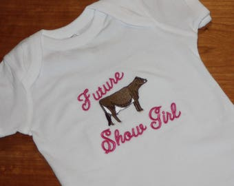 Baby creeper - Future show dairy cow body suite - Dairy cow show shirt - 4H dairy cow shirt - Toddler cow shower