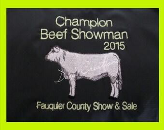 Custom shirt for livestock steer show awards - customized show cow award - custom farm name t-shirt