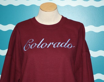 Custom State sweatshirt - Embroidered crew neck sweatshirt - State pride embroidered shirt - Embroidered Colorado state sweatshirt