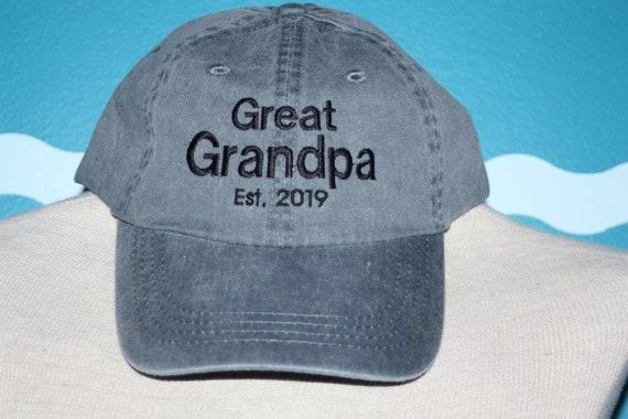 Great Grandpa Baseball Hat Great Grandpa est Hat Baby  a302518e3f9f