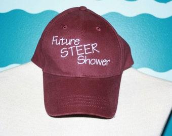 Livestock steer shower - youth baseball hat - livestock kid show steer hat -embroidered baseball cap -  future steer shower