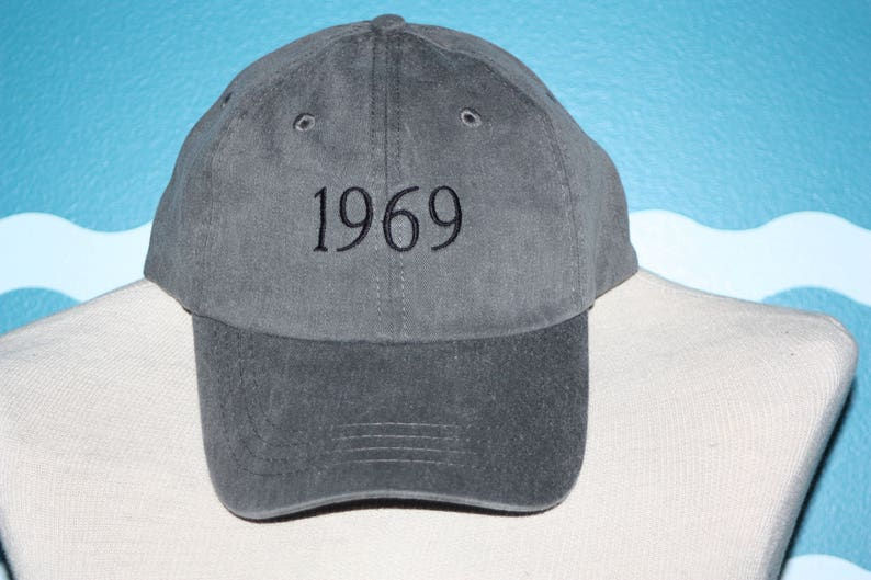 95824f9b1a683 Custom Year Embroidered Baseball Hat 1969 Embroidered Hat