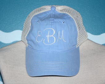 Monogram Baseball Cap - Custom Ball Cap - Monogram baseball Hat - Trucker Cap - Personalized summer hat - Mesh Baseball Hat