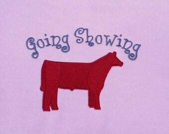 Embroidered Steer Hooded Sweatshirt - Custom Text Cow Embroidery Sweatshirt - Livestock Shower Hoodie - Farm Name Steer Shirt - Personalized
