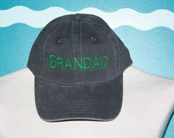 Embroidered Grandad hat - Custom Grandad baseball cap - Embroidered baseball hat - Grandparent baseball cap - Grandad gift - Custom Gift