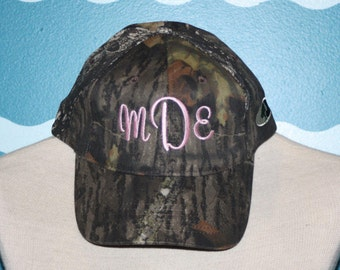 Custom Caps - Camo Personalized Hats - Vacation Hat - Custom monogrammed Baseball Hat - Ladies Caps - Camo Wedding Gift - Engagemetnt Gift