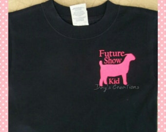 Cute graphic tee - goat t shirt - youth future show kid goat shirt