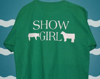 Livestock show shirt - pig and steer shower t-shirt - custom show girl t-shirt - Personalized hog shower t-shirt - hog and steer shirt