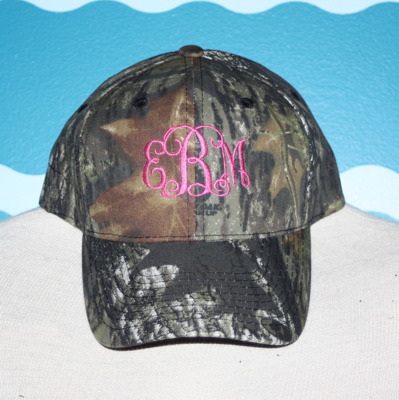 9a6b7558211f3 Youth Camo Monogrammed Cap Camo Baseball Hat Embroidered