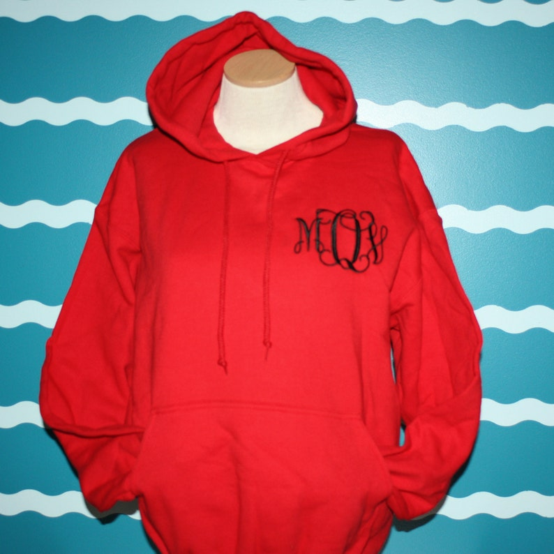 f3c7bab92 Monogrammed Hooded Sweatshirt Custom Embroidered Hoodie