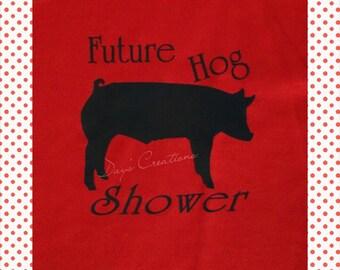 pig t-shirt - future hog show graphic shirt - hog shower t-shirt - livestock show kid - pig shower tshirt - youth tshirt