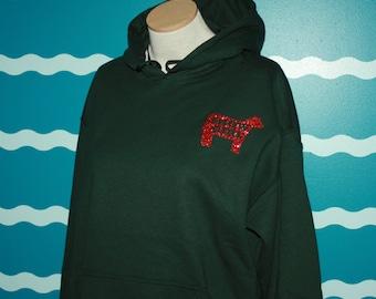 Livestock show girl hooded sweatshirt - show cow Hoodie sweatshirt - 4H show girl hooded sweatshirt - ffa show girl hooded sweatshirt