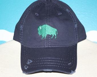 Custom Baseball Cap - Buffalo Embroidered baseball cap - Great custom gift - baseball hat embroidered - Gift for Men - Custom Gift Under 20