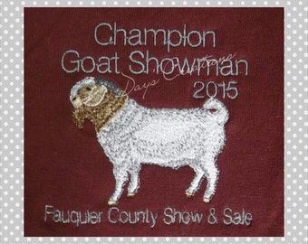 Custom shirt for livestock goat show awards - customized show boar goat award - Boar goat with custom farm name