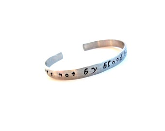 Sisters Gift | Adoption Gift |Step Sister Gift - Sisters not by blood... Customizable Hand Stamped Cuff Bracelet