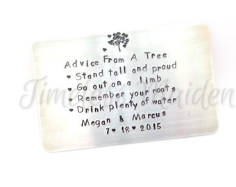 Sisters Gift | Mothers Gift | Anniversary Gift For Her | Engagemet Gift | Wedding Gift | Wallet Insert Card | Create Your Own Message