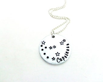 Zodiac Constellation Necklace - You Pick Your Sign - Astrology Jewelry - Capricorn, Sagittarius,Taurus, Leo, Pisces - Customizable