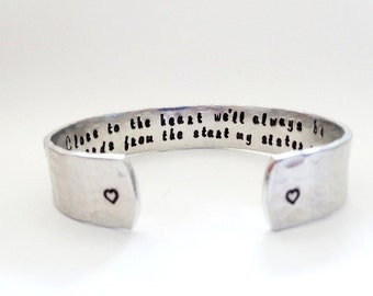 Sister Jewelry, Sister Gift, Sister Bracelet, Personalized, Soul Sisters, Step sister Gift, Silver engraved Bracelet