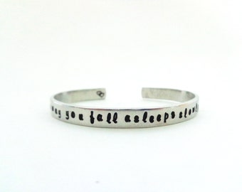 Wifes Gift / Girlfriend Gift, Anniversary Gift, Friends Gift, Gift Idea, I fell in love the way...Custom Stamped Bracelet by Timeless Maiden