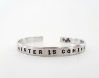 Personalized Cuff Bracelet - Custom Bracelet - Inspirational Bracelet - Quote Bracelet - with YOUR wording - Affirmation / Bracelet