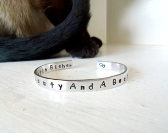 Personalized Custom Cuff Bracelet - Custom Gifts - Gift Ideas For Girls - Beauty and a beat... Gift Ideas