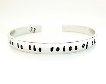 Quote Inscribed Bracelet music is the voice of the soul