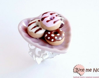 Food Jewelry Donuts Tower Ring