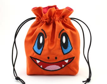 Char Face Dice Bag, Drawstring Bag