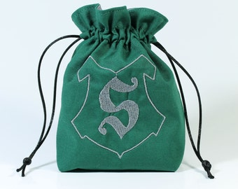 Snake Wizard House Dice Bag, Drawstring Bag