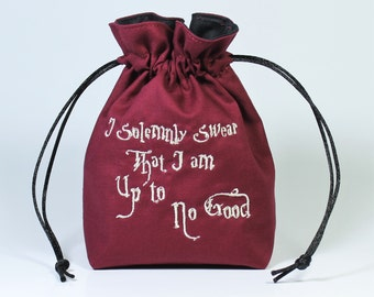 Solemnly Swear Wizard Map Dice Bag, Drawstring Bag