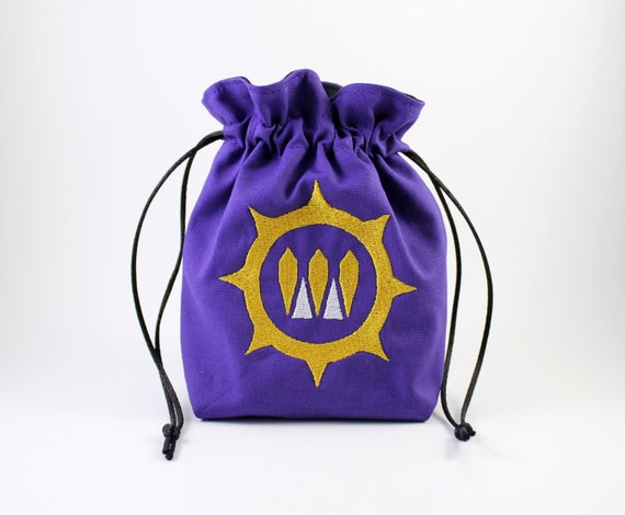 Cotton Drawstring Bag Dice Bag Marble Bag Queen of the North Drawstring Bag Drawstring Pouch