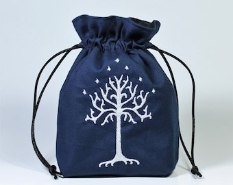 Tree of Gondor LOTR Dice Bag, Drawstring Bag