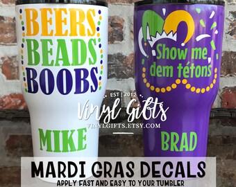 Mardi Gras Decal / Mardi Gras Krewe Decal / Fat Tuesday Decal / Mardi Gras Tumbler Decal