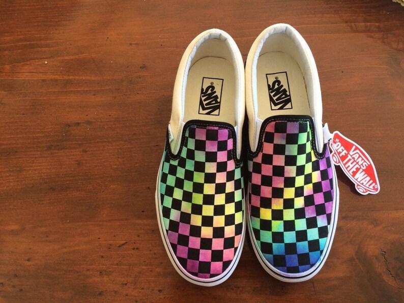 945f4011663c Tie Dye Watercolor Checkerboard Vans
