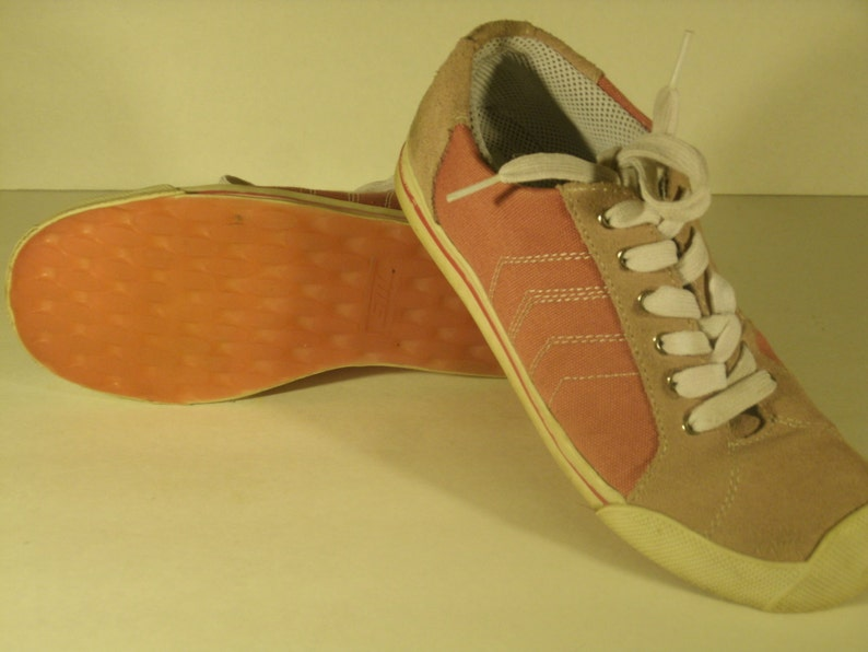 Vintage Steve Madden Pink Sneakers Canvas Suede Colored Soles