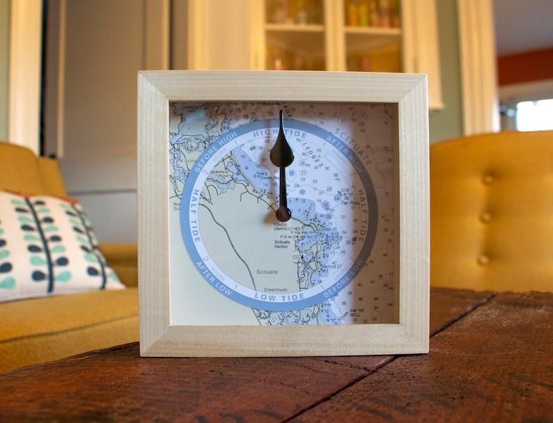 tide clock nautical chart custom for any coast hang or image 0