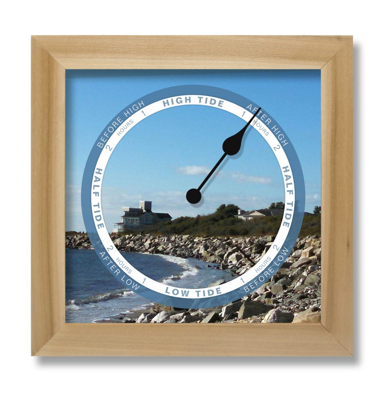 horloge de marée, personnalisez avec votre photo, accrochez ou tenez, horloge de marée