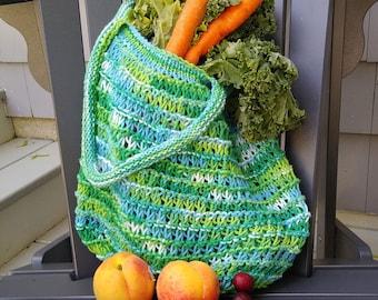 green multicolor shopping bag