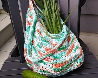 farmers market bag with shoulder straps,