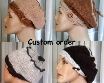 knit alpaca tam made to order,