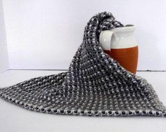 Shades of gray woven dish towel