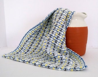 White cotton kitchen cloth handwoven