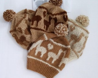 Custom knit alpaca hat with Borgstein Alpaca yarn,