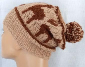alpaca love pompom hat,