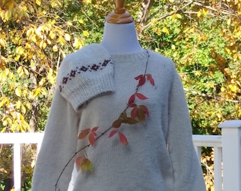 alpaca pull-over sweater handknit