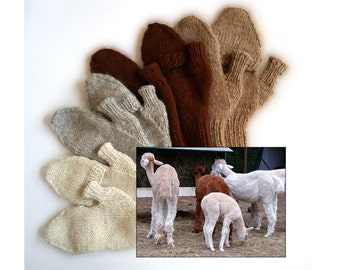 alpaca flip-top mittens handknit glittens made-to-order